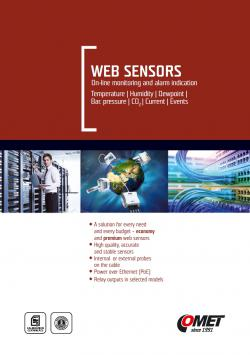 CATALOG - WebSensor with Ethernet output